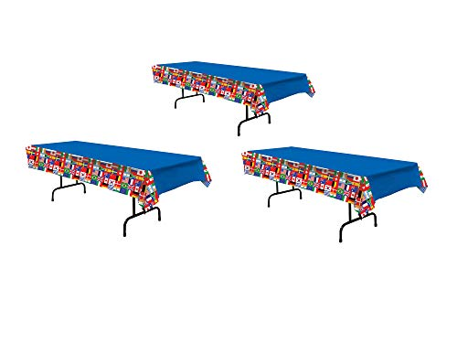 International Flag Tablecover Party Accessory (1 count) (1/Pkg) 3pack ()