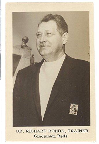 DR. RICHARD ROHDE, TRAINER Cincinnati Reds Baseball Postcard Unused