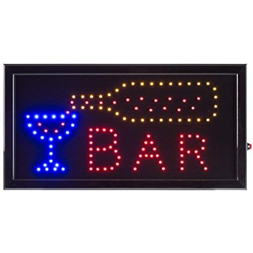 Bar LED Sign- Lighted Neon Electric Display Bar Sign With Animation and Energy Efficient LED For Home, Business, Special Events by Lavish Home ()