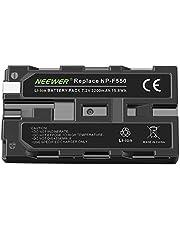 Neewer Rechargeable Replacement NP-F550/570 Digital Camera 2200mAh Battery for Neewer CN-160, CN-126, CN-216, Compatible for Sony CyberShot D Series DSC-D700, Digital 8 DCR-TR7000, DCR-TRV103, DCR-TRV110, DCR-TRV120