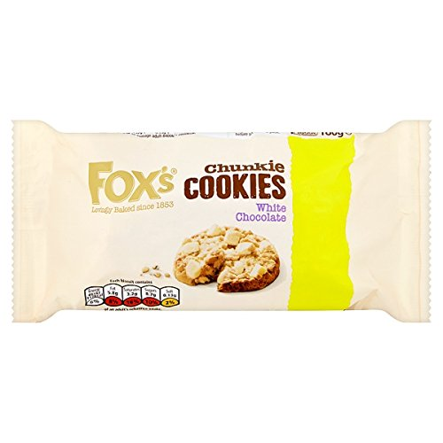 de Fox Chunkie galletas de chocolate blanco 180g (paquete de 9 x 180g)
