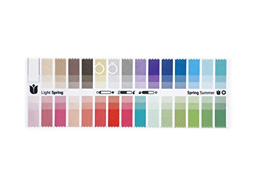 Spring Color Palette - Handy Fabric Color Swatch Light Spring with 30 Colors for Color Analysis and Image Consulting