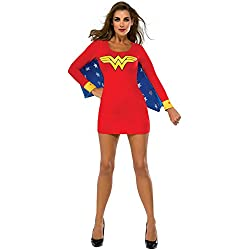 Rubie's Costume Co Women's DC Superheroes Wonder Woman Cape Dress