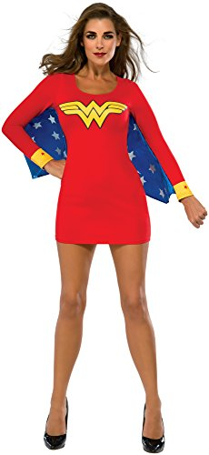 Rubie's Women's DC Superheroes Wonder Woman Cape Dress, Multi, (Original Wonder Woman Halloween Costume)