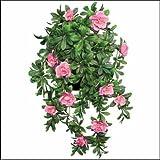 Outdoor Artificial Pink Azalea 34'' Hanging Vine