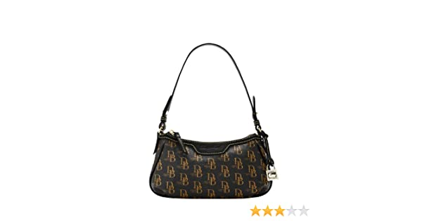 Dooney   Bourke 1975 Signature Patty Pouchette Demi Bag (Black)  Handbags   Amazon.com eba55bf1a3e0e
