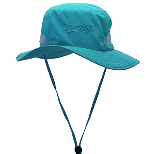 MatchLife Outdoor Soft Outdoor Fishing Hiking Sun Cap Soft Bucket Mesh Unisex Boonie Hat Army Blue Adult Bucket Hat