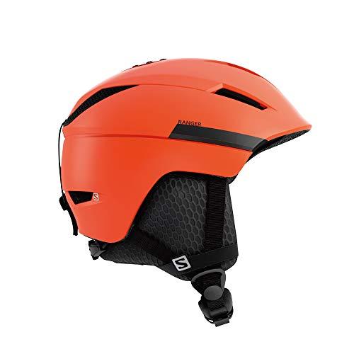 Salomon Ranger - Casco Cuadrado M, Grande, 59-62 cm, Negro/Rojo