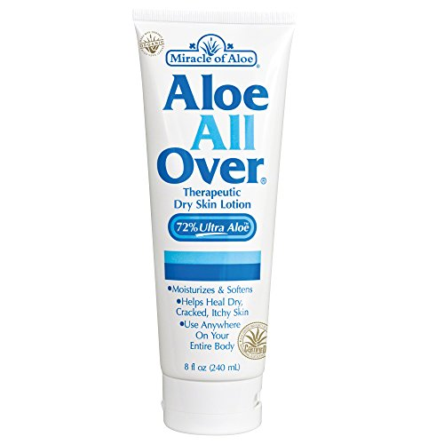 Aloe All Over Therapeutic Dry Skin Lotion 8 Ounce Tube with 72% UltraAloe