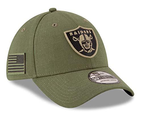 5e494c856 New Era Oakland Raiders NFL 39THIRTY 2018 Sideline Salute to Service Hat