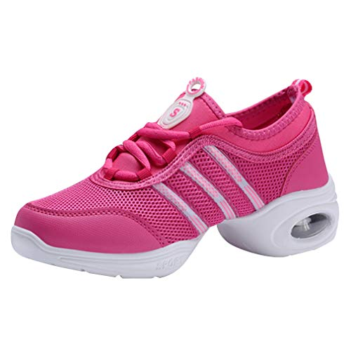 Détente Chaussures À Respirant Rouge Gymnastique Baskets Latin Sneakers 815 Jazz Outdoor Maille Antidérapant Rose Danse Femme Lacets Fitness Moderne 5CXw6UqnI