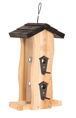 Wild Wings WWCF5 Cedar Vertical Wave Bird Feeder (Feeder Small Platform Hanging)