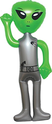 56'' JUMBO INFLATABLE ALIENGreen -Blow Up Toy Party Prize Big Decoration by Yodgang