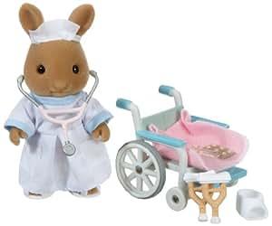 Sylvanian families 2683 - Figura de ratón enfermera con silla de ruedas [Importado de Alemania]