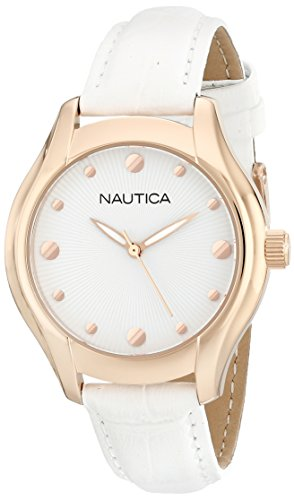 Nautica Women's N11633M NCT 18 Mid Analog Display Quartz White Watch