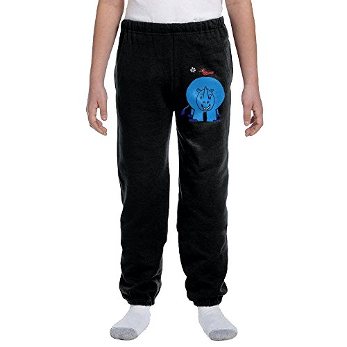 Luosi-77 Youth Soft/Cozy Sweatpants Rhino Bird Peace Fleece - Peace Fleece Pant