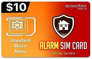 Amazon.com : Alarm SIM Card for GSM Home - Business Security ...