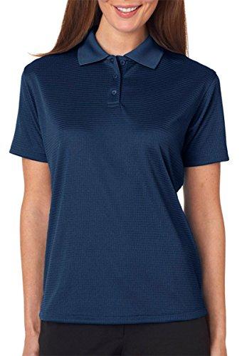 UltraClub Cool & Dry Elite Jacquard Polo Golf Shirt Women's 8305L Navy Small