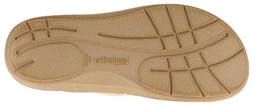 Orthaheel - Zapatillas de estar por casa para mujer marrón canela 3