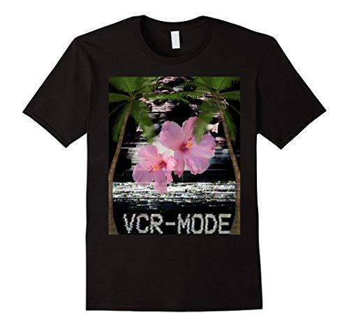 Vapor Black Cherry - Mens Vapor wave Vaporwave Aesthetic Japanese Style Shirt VRC-MODE Large Black
