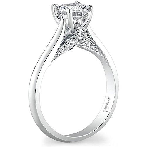 Diamond Ring .14ct (cz ctr) (Pave Diamond Bezel)