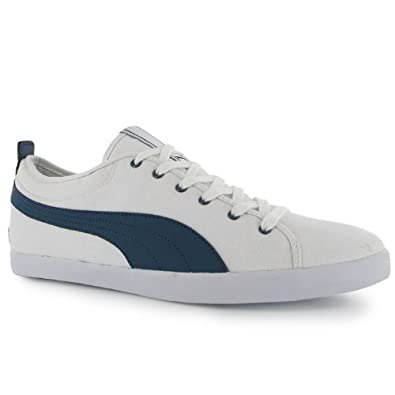 Mens Puma Canvas Shoes Canvas Shoes White Denim Elsu Mens