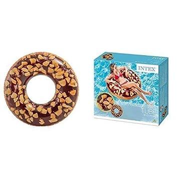 lively moments FLOTADOR/Anillo Flotante CHOCOLATE donut con bocas/streuselmuster aprox. 114cm: Amazon.es: Juguetes y juegos