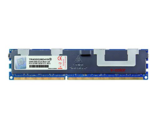 V-Color 32GB (1 x 32GB) Hynix IC 288-Pin DDR4 2666MHz (PC4-21300) ECC Registered DIMM with Heat Sink 1.2V CL19 2Rx4 Dual Rank Server Memory Ram Module Upgrade (TR432G26D419)