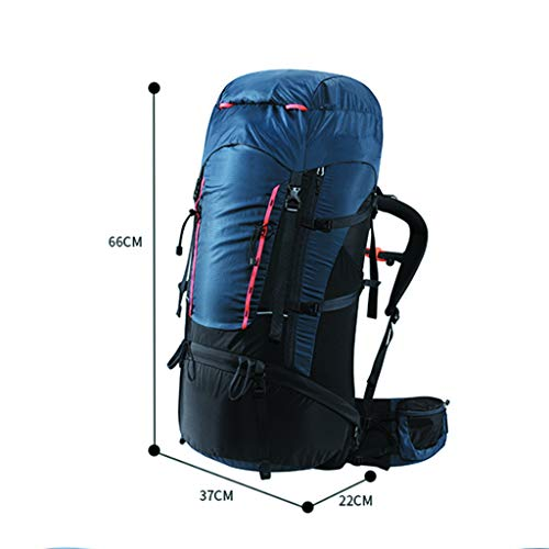 65+10L Mountaineering Backpack Men and Women Outdoor Hiking Backpack (Blue)