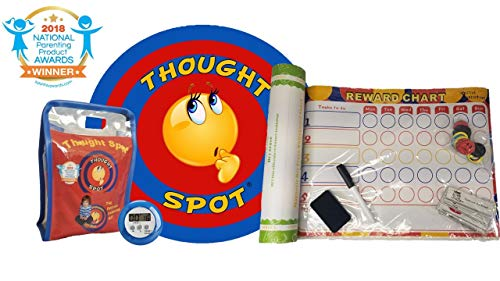 Materials Recyclable (Thought Spot - Reward Chart & The Portable Parenting Time Out Mat with Digital Timer- 24 inch Diameter Made from Recyclable Non-Toxic Materials))