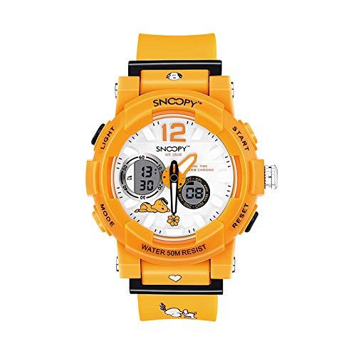 Auténtico Reloj Electrónico Led Snoopy Reloj Deportivo para ...