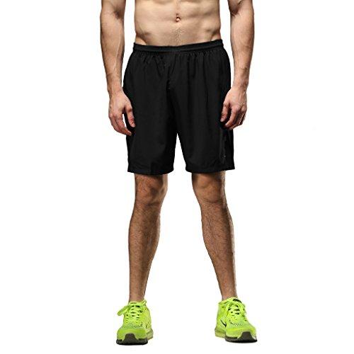 SEEU Mens Sports Shorts, Black M ()
