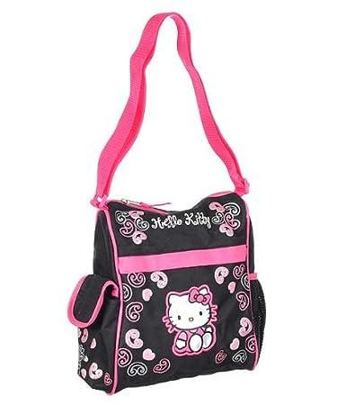 Amazon.com   Hello Kitty Mini Diaper Bag - black pink 89d6ae23add42