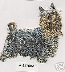 Australian Silky Terrier Dog Embroidery Patch