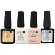 CND Shellac French Manicure Kit Base Top Coat Color White Pink Nail Polish Gel by CND Cosmetics
