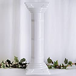 "Tableclothsfactory 4 Pillars/Set Wedding Event Decorative Columns 31"" Tall (Ajustable PVC Columns)"