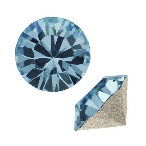 Chaton Crystal - Swarovski Crystal, 1028 Xilion Round Stone Chatons pp24, 36 Pieces, Denim Blue