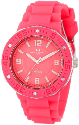 Oceanaut Women's OC0212 ''Acqua'' Stainless Steel and Pink Silicone Watch by Oceanaut