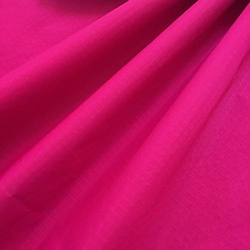 "EMMAKITES Hot Pink Ripstop Nylon Fabric 60""x36""(WxL) 48g (Sq M) of Water Repellent Dustproof Airtight PU Coating - Excellent Fabric for Kites Inflatable Skydancer Flag Tarp Cover Tent Stuff Sack"