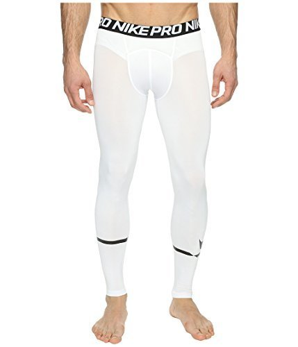 NIKE Mens Pro Swoosh Tights White/Black 828535-100