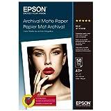 Epson Archival (C13S041340) - carta opaca - super b (330 x 483 mm) - 192 g / m2 - 50 pezzi