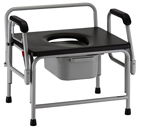 NOVA Medical Products Heavy Duty Drop-Arm Commode, 32.5Pound