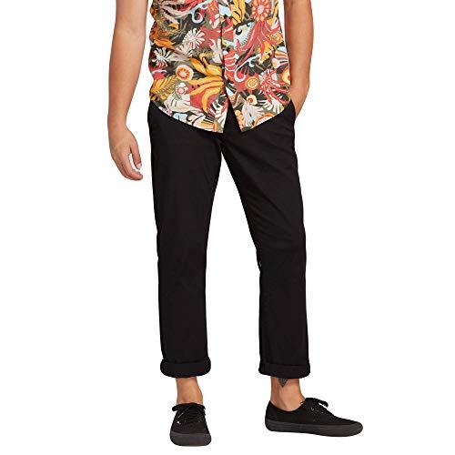 Volcom Men's Frickin Modern Fit Stretch Chino Pant, Black, 40 ()