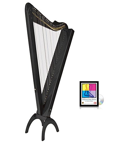 33 String Acoustic/Electric Grand Harpsicle Harp - Black by Harpsicle Harps