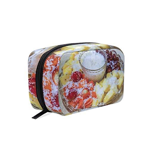 Cosmetic Makeup Bag Pouch Fruit Sweet Dip Dish Meal Food -