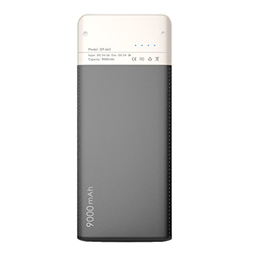 WST Power Bank 9000mAh Portable Battery (2.0A Output, 2 USB Ports, Li-Polymer Battery) Portable Charger for iPhones, Androids, Tablets & More-Black