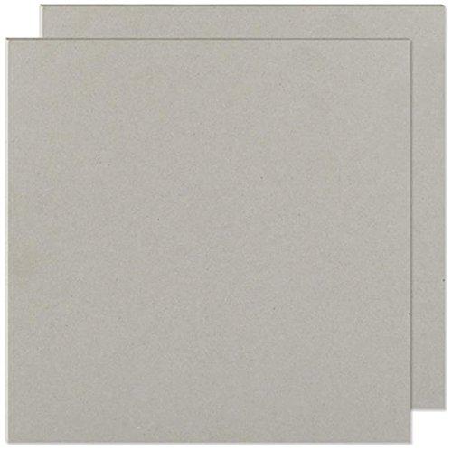 "We R Memory Keepers 61245-2 Designer Book Board, Chipboard, 8"" x 8"", Grey"