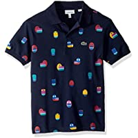 Lacoste Boy Short Sleeve Video Game All Over Print Pique Polo