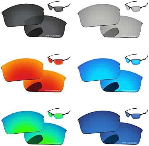 a9f6a044e8c PapaViva Polarized Replacement Lenses for Oakley Wiretap 6 Pairs Packed