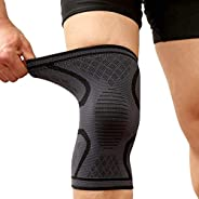 Knee Brace Support Compression Sleeves, Arthritis Pain Relief Injury Recovery Knee Protection, Non Slip Knee S